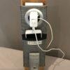 Etui à charger téléphone gris pailleté support
