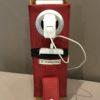 Etui à charger téléphone rouge support