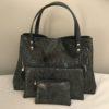 sac cabas trio croco noir
