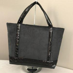 sac paillettes noir