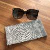 étui lunettes croco gris