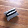 étui mouchoirs croco gris