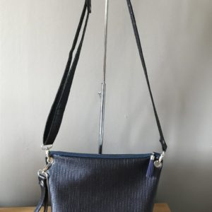 sac bandoulière pochette de soiree moyen bleu marine support