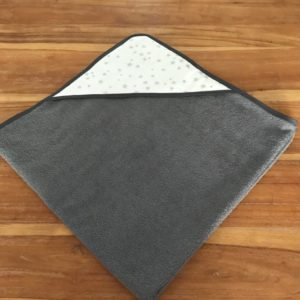 cape de bain gris anthracite carré neutre