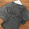cape de bain déplié gris anthracite étoiles