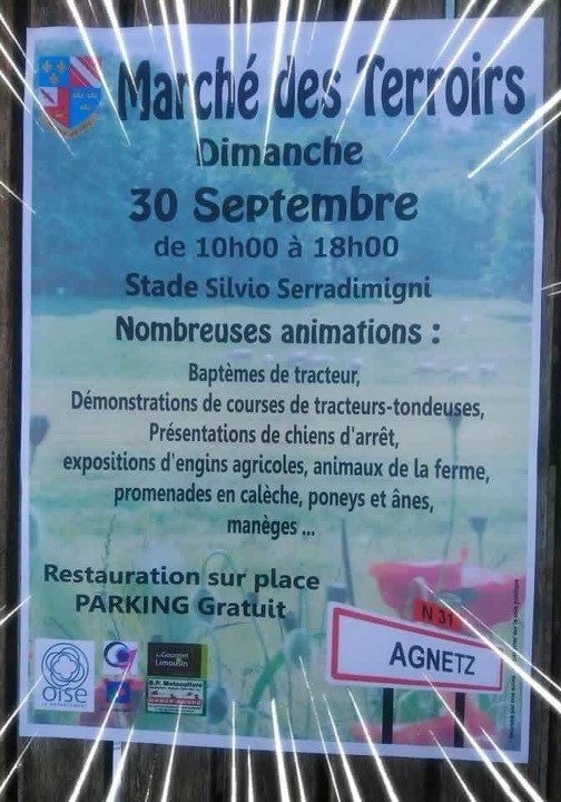 affiche marché agnetz