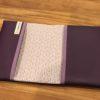 protège carnet de santé violet ouvert