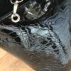 sac seau vernis noir simili
