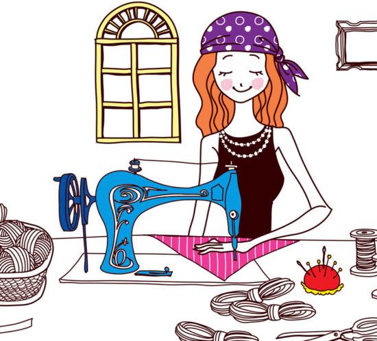 Affiche cours de couture