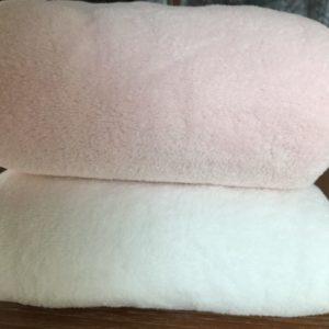 couverture ensemble blanche et rose