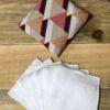Etui voyage + 7 lingettes triangle prune rose saumon