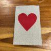 cahier personnalisé coeur rouge